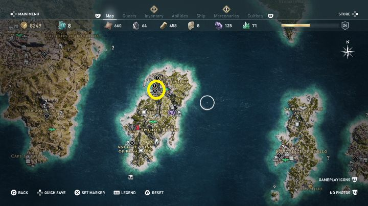 How to start: Speak with Xenia after Throw the Dice quest - Side Quests in Pirate Islands in Assassins Creed Odyssey - Side Quests - Assassins Creed Odyssey Guide