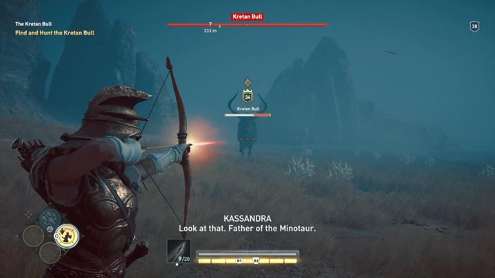 Description: This enemy is really irritating - The Kretan Bull (Messara) - Hunting for Seven Beasts in Assassins Creed Odyssey - Hunting for Seven Beasts - Assassins Creed Odyssey Guide