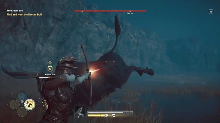 The bulls attacks are chaotic and it is difficult to determine when the enemy will attack - The Kretan Bull (Messara) - Hunting for Seven Beasts in Assassins Creed Odyssey - Hunting for Seven Beasts - Assassins Creed Odyssey Guide