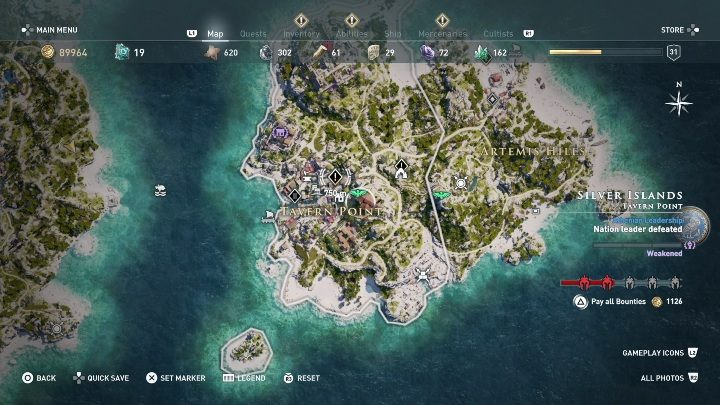 How to start: Speak with the Beggar - Side Quests on Silver Islands in Assassins Creed Odyssey - Side Quests - Assassins Creed Odyssey Guide