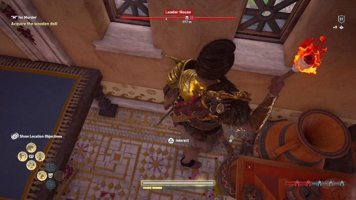 The doll is hidden behind the table - Side Quests on Silver Islands in Assassins Creed Odyssey - Side Quests - Assassins Creed Odyssey Guide