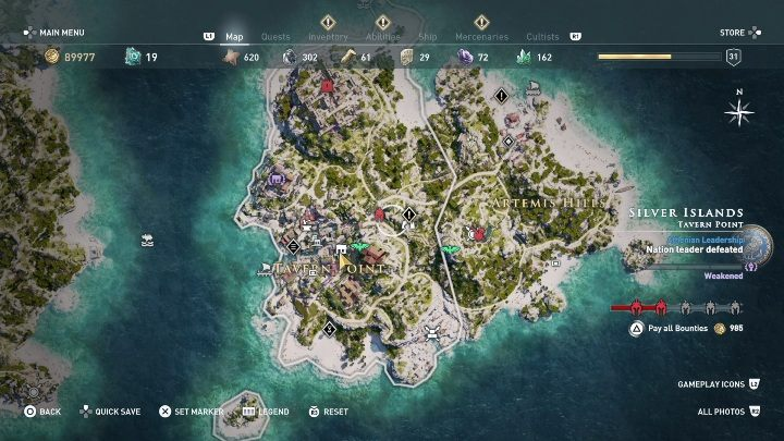 How to start: Speak with the man - Side Quests on Silver Islands in Assassins Creed Odyssey - Side Quests - Assassins Creed Odyssey Guide