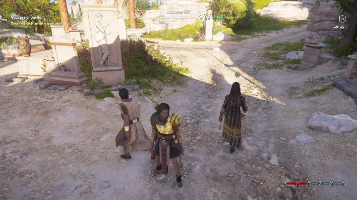 Description: Head to the temple and speak with Kyra - Side Quests on Silver Islands in Assassins Creed Odyssey - Side Quests - Assassins Creed Odyssey Guide