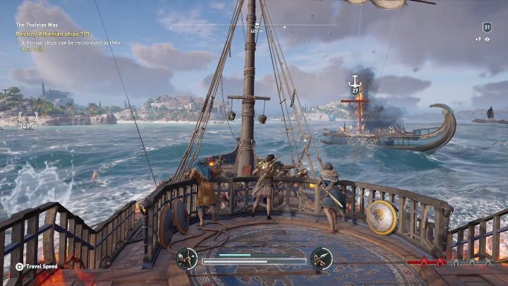 Description: You have to destroy 3 Athenian ships - Side Quests on Silver Islands in Assassins Creed Odyssey - Side Quests - Assassins Creed Odyssey Guide