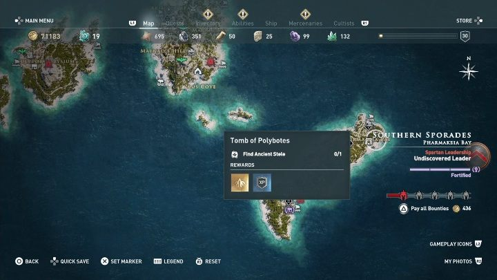 Tombs location: Kos, northern part of the island - Southern Sporades - Tombs in Assassins Creed Odyssey - Tombs - Assassins Creed Odyssey Guide