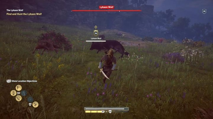 Description: Wolves like to hunt in packs - The Lykaon Wolf (Lakonia) - Hunting for Seven Beasts in Assassins Creed Odyssey - Hunting for Seven Beasts - Assassins Creed Odyssey Guide