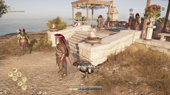 Description: Investigate the area with the murder scene - Side Quests on Kythera Island in Assassins Creed Odyssey - Side Quests - Assassins Creed Odyssey Guide