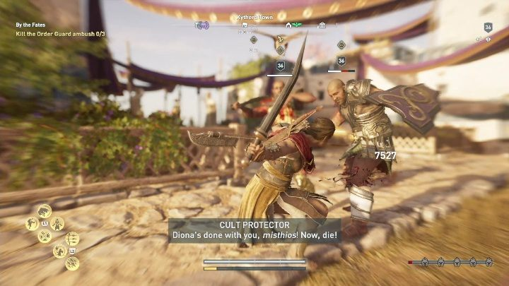 Description: You have to escort Priestess to a safe place - Side Quests on Kythera Island in Assassins Creed Odyssey - Side Quests - Assassins Creed Odyssey Guide