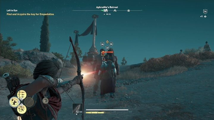 Your objective in Left to Dye is to get Empedokles key - Side Quests on Kythera Island in Assassins Creed Odyssey - Side Quests - Assassins Creed Odyssey Guide