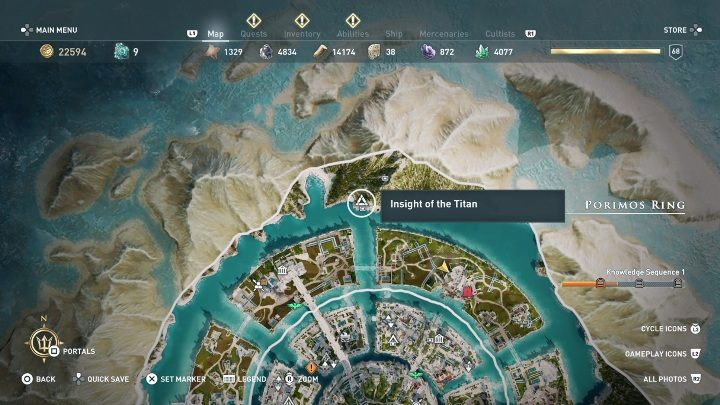 Porimos Ring | Judgement of Atlantis maps and atlas - Assassin's