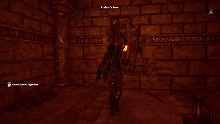 Walkthrough: Enter the tomb and smash the planks blocking your way - Argolis - Tombs in Assassins Creed Odyssey Game - Tombs - Assassins Creed Odyssey Guide
