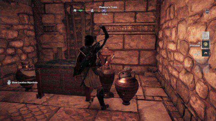 You will reach a chest hiding the Brawlers Armor - Argolis - Tombs in Assassins Creed Odyssey Game - Tombs - Assassins Creed Odyssey Guide