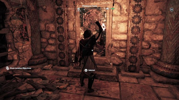 In the next room, you will find a board and an exit route - Argolis - Tombs in Assassins Creed Odyssey Game - Tombs - Assassins Creed Odyssey Guide