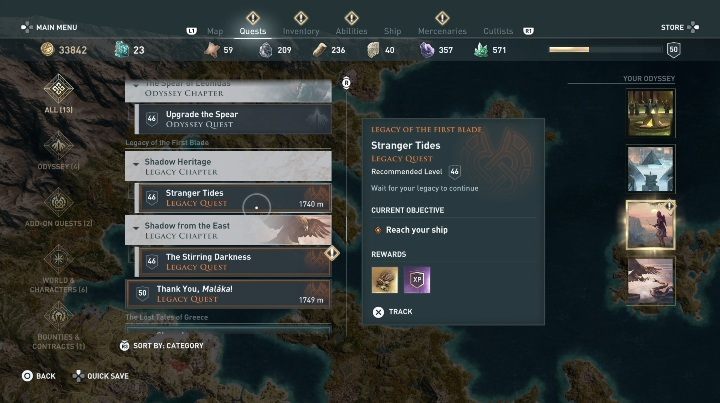 If you cant start Shadow Heritage DLC, check if you have completed all quests available in the first episode - How to start the Legacy of the First Blade DLC? - Additional Content - Assassins Creed Odyssey Guide
