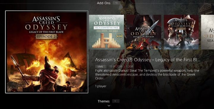 Find Assassins Creed Odyssey: Legacy of the First Blade Episode 2 in the PlayStation Store - How to start the Legacy of the First Blade DLC? - Additional Content - Assassins Creed Odyssey Guide