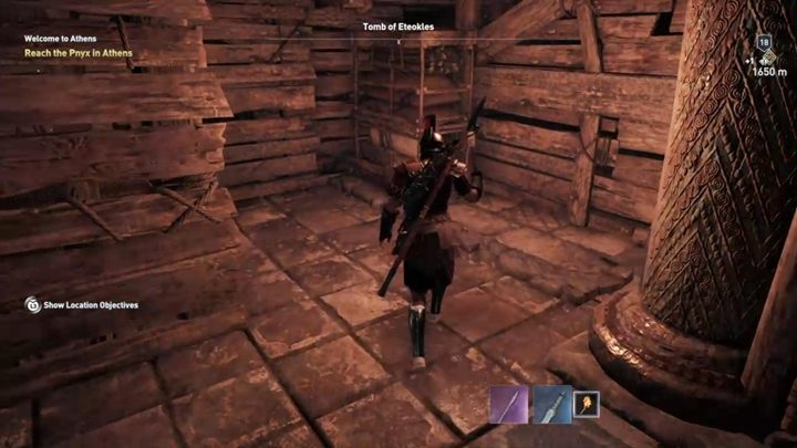 When you are inside the chamber with the sarcophagus go to another passage and continue downwards - Attika - Tombs in Assassins Creed Odyssey Game - Tombs - Assassins Creed Odyssey Guide