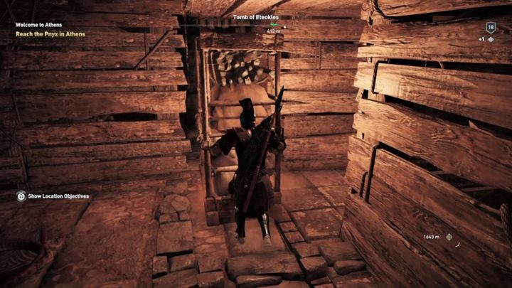Now move the second shelf inside the crack to reveal a passage - Attika - Tombs in Assassins Creed Odyssey Game - Tombs - Assassins Creed Odyssey Guide