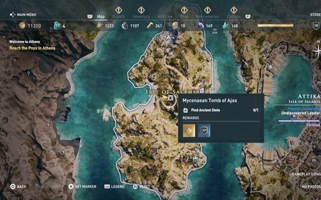 Walkthrough: Enter the tomb and continue forward - Attika - Tombs in Assassins Creed Odyssey Game - Tombs - Assassins Creed Odyssey Guide