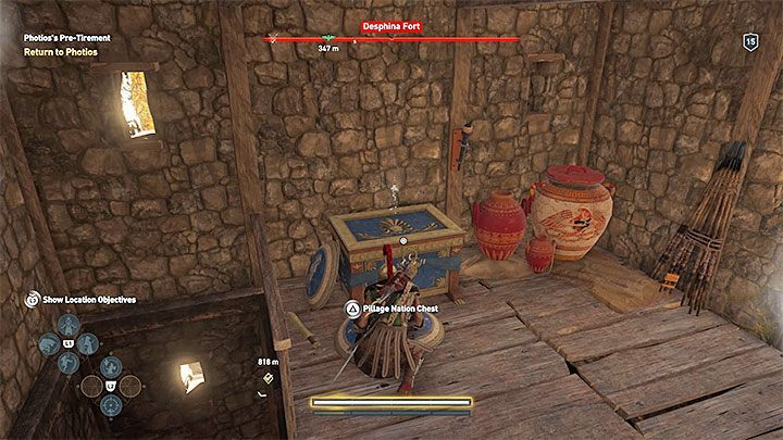 The next method of lowering Nation Power is to loot Nation Chests - Conquest in Assassins Creed Odyssey Game - Tips - Assassins Creed Odyssey Guide