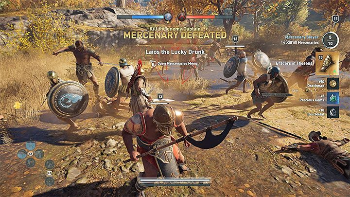 You can come across additional enemies - mercenaries who work for the enemy - Conquest in Assassins Creed Odyssey Game - Tips - Assassins Creed Odyssey Guide