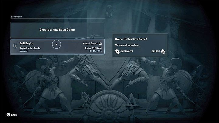Your progress can be saved in the game in three different ways - How to save and load the game in Assassins Creed Odyssey? - FAQ - Assassins Creed Odyssey Guide