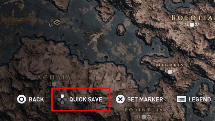 The last and third way is the Quicksave - How to save and load the game in Assassins Creed Odyssey? - FAQ - Assassins Creed Odyssey Guide