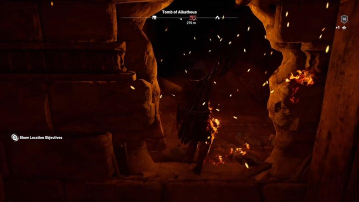 Walkthrough: Enter inside and turn right - Megaris - Tombs in Assassins Creed Odyssey Game - Tombs - Assassins Creed Odyssey Guide