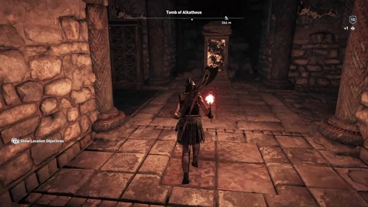 Go down the stairs and kill a cobra - Megaris - Tombs in Assassins Creed Odyssey Game - Tombs - Assassins Creed Odyssey Guide