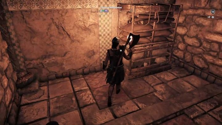 Keep moving forward until you reach a regale that can be moved - Megaris - Tombs in Assassins Creed Odyssey Game - Tombs - Assassins Creed Odyssey Guide