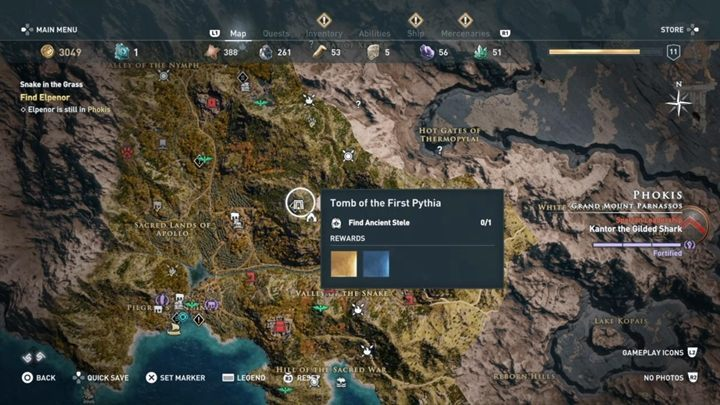 Tomb Location: Parnas, near the Temple of Apollo - Phokis - Tombs in Assassins Creed Odyssey Game - Tombs - Assassins Creed Odyssey Guide