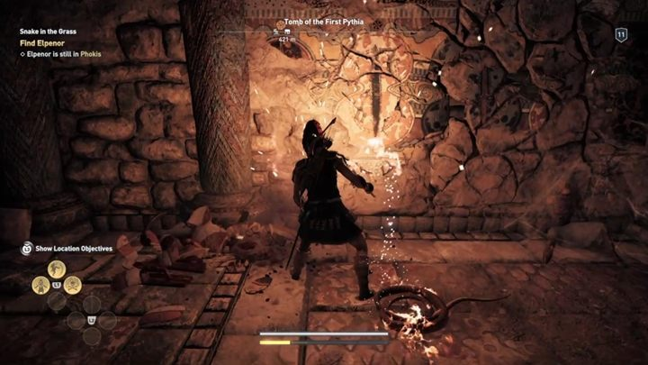 You will reach the cracked wall - Phokis - Tombs in Assassins Creed Odyssey Game - Tombs - Assassins Creed Odyssey Guide