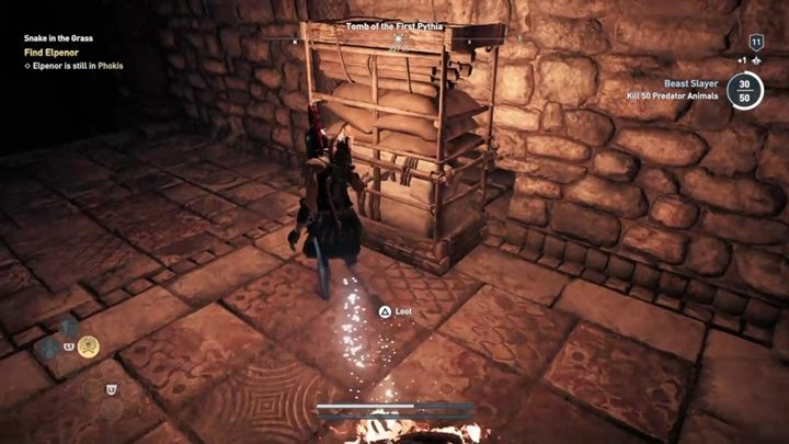 Youll reach a cabinet that you can move - Phokis - Tombs in Assassins Creed Odyssey Game - Tombs - Assassins Creed Odyssey Guide