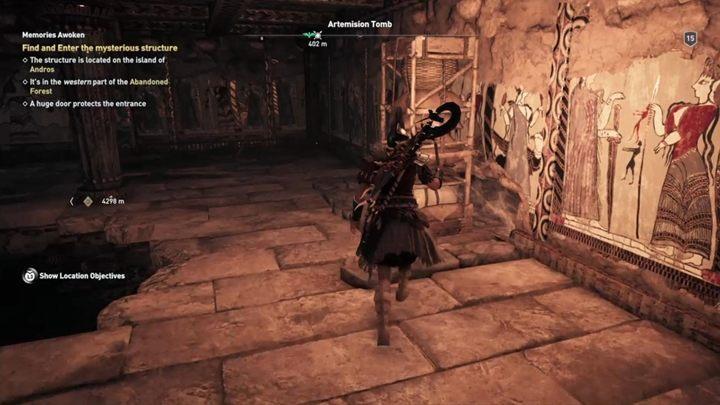 Поверните направо, переместите книжный шкаф и откройте проход - Eubea - Гробницы в Assassins Creed Odyssey Game - Гробницы - Assassins Creed Odyssey Game Guide