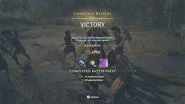 The battle is easier if you join the defending party - Hero for Hire - Assassins Creed Odyssey Trophy guide - Trophy Guide - Assassins Creed Odyssey Guide