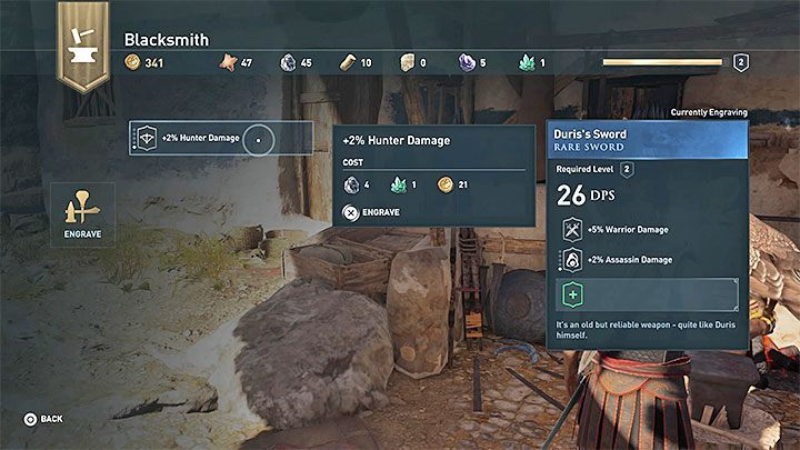 Select any piece of equipment that is in your characters inventory - Make It Your Own - Assassins Creed Odyssey Trophy guide - Trophy Guide - Assassins Creed Odyssey Guide