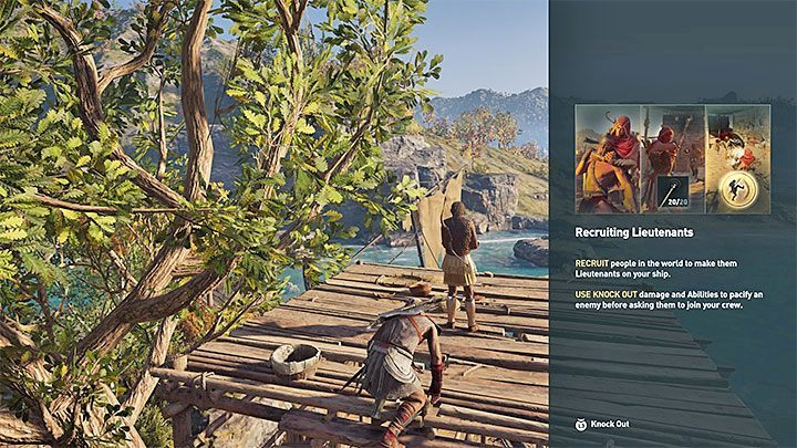 The game explains how to recruit new crew members as lieutenants right after you get your ship and go to Megaris - You Work for Me Now - Assassins Creed Odyssey Trophy guide - Trophy Guide - Assassins Creed Odyssey Guide
