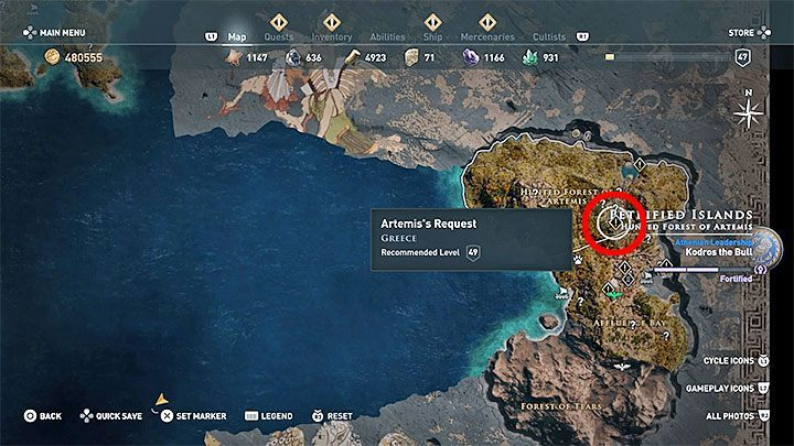After killing the last legendary animal, you have to meet Daphnae in a new location - on Chios Island - Daphnae - Romances in Assassins Creed Odyssey - Romances - Assassins Creed Odyssey Guide