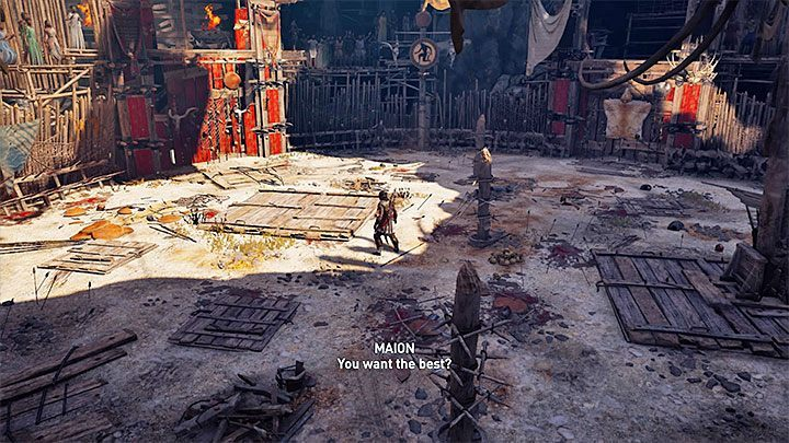 The Arena can be found in Pephka region, located in the southern part of the map - How to get XP fast - leveling guide to Assassins Creed Odyssey - FAQ - Assassins Creed Odyssey Guide