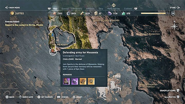 Weakening the nations influence over a region unlocks the ability to play one of the two conquest battles - you can help a defending nation to maintain control of the region or an attacking nation to take control of the region - When do we choose the side in the conflict between Sparta and Athens? - FAQ - Assassins Creed Odyssey Guide