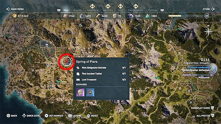 1 - Ainigmata Ostraka on Elis in Assassins Creed Odyssey - Ainigmata Ostraka - Assassins Creed Odyssey Guide