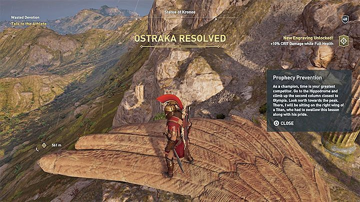 Climb on the statue - Ainigmata Ostraka on Elis in Assassins Creed Odyssey - Ainigmata Ostraka - Assassins Creed Odyssey Guide