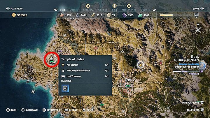 3 - Ainigmata Ostraka on Elis in Assassins Creed Odyssey - Ainigmata Ostraka - Assassins Creed Odyssey Guide