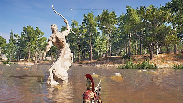 Solving the riddle: If you want to solve the riddle using the hints from the tablet, you can reach the small water reservoir in the Plains of Flax subregion shown in the picture 1 - Ainigmata Ostraka on Elis in Assassins Creed Odyssey - Ainigmata Ostraka - Assassins Creed Odyssey Guide