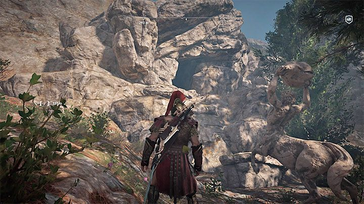 If you prefer to solve the riddle as soon as possible, go straight to the cave (unmarked) shown in the picture - Ainigmata Ostraka on Elis in Assassins Creed Odyssey - Ainigmata Ostraka - Assassins Creed Odyssey Guide