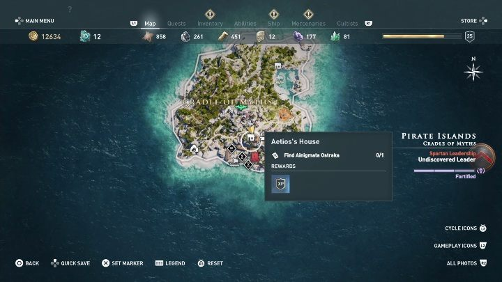 1 - Ainigmata Ostraka in Pirate Islands in Assassins Creed Odyssey - Ainigmata Ostraka - Assassins Creed Odyssey Guide