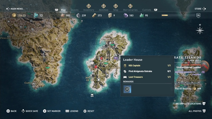3 - Ainigmata Ostraka in Pirate Islands in Assassins Creed Odyssey - Ainigmata Ostraka - Assassins Creed Odyssey Guide