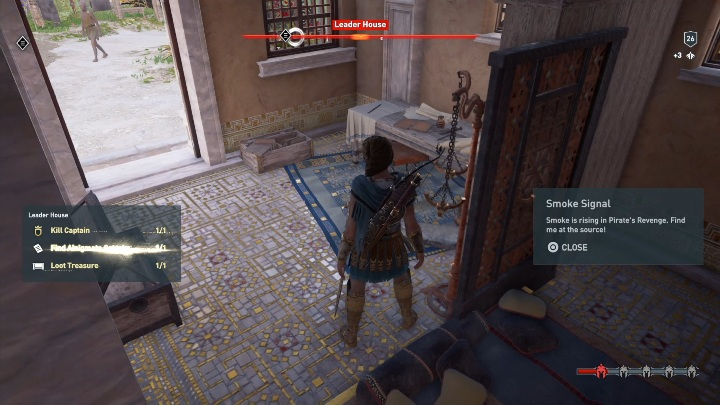 The location of this Ainigmata Ostraka: Head to the Leader House - Ainigmata Ostraka in Pirate Islands in Assassins Creed Odyssey - Ainigmata Ostraka - Assassins Creed Odyssey Guide