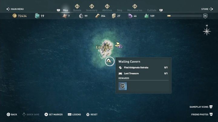 5 - Ainigmata Ostraka in Pirate Islands in Assassins Creed Odyssey - Ainigmata Ostraka - Assassins Creed Odyssey Guide