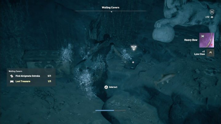The location of this Ainigmata Ostraka: Head to Wailing Cavern - Ainigmata Ostraka in Pirate Islands in Assassins Creed Odyssey - Ainigmata Ostraka - Assassins Creed Odyssey Guide