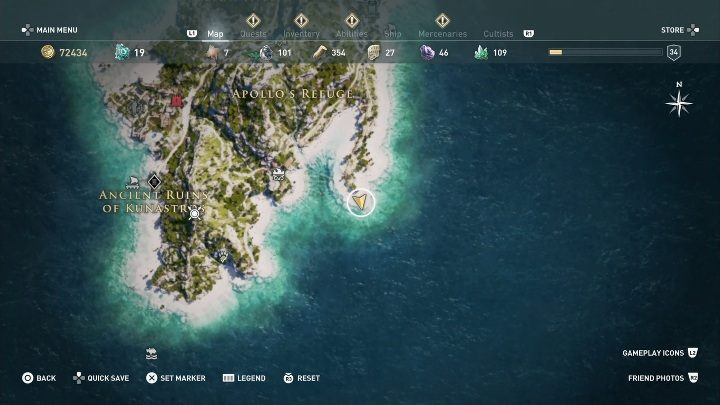 6 - Ainigmata Ostraka in Pirate Islands in Assassins Creed Odyssey - Ainigmata Ostraka - Assassins Creed Odyssey Guide